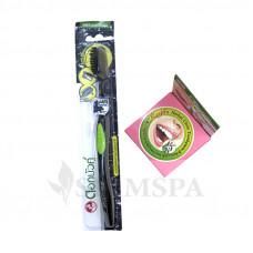 Набор отбеливающая паста Rasyan и антибактериальная зубная щетка