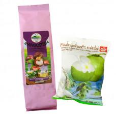 Зеленый чай с мангостином и жевательные тайские конфеты с кокосовым молочком MitMai Candy