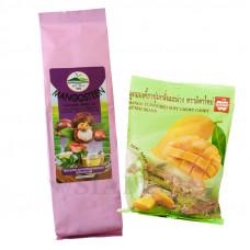 Зеленый чай с мангостином и жевательные тайские конфеты с соком манго MitMai Candy