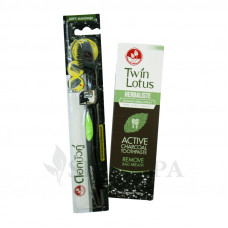 Набор черная зубная паста и антибактериальная зубная щетка