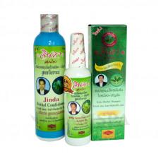 Шампунь + кондиционер + сыворотка против выпадения волос Jinda