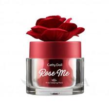 Ночная маска для лица Rose Me с цветочными экстрактами, Cathy Doll