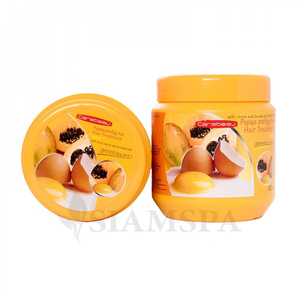 Маска для волос с папайей и яичным желтком, 500 мл