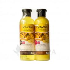 Шампунь + бальзам для волос с экстрактом банана
