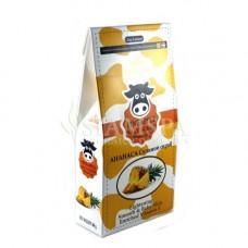 Солевой молочный скраб для тела с экстрактом ананаса и витамином Е, 300 гр
