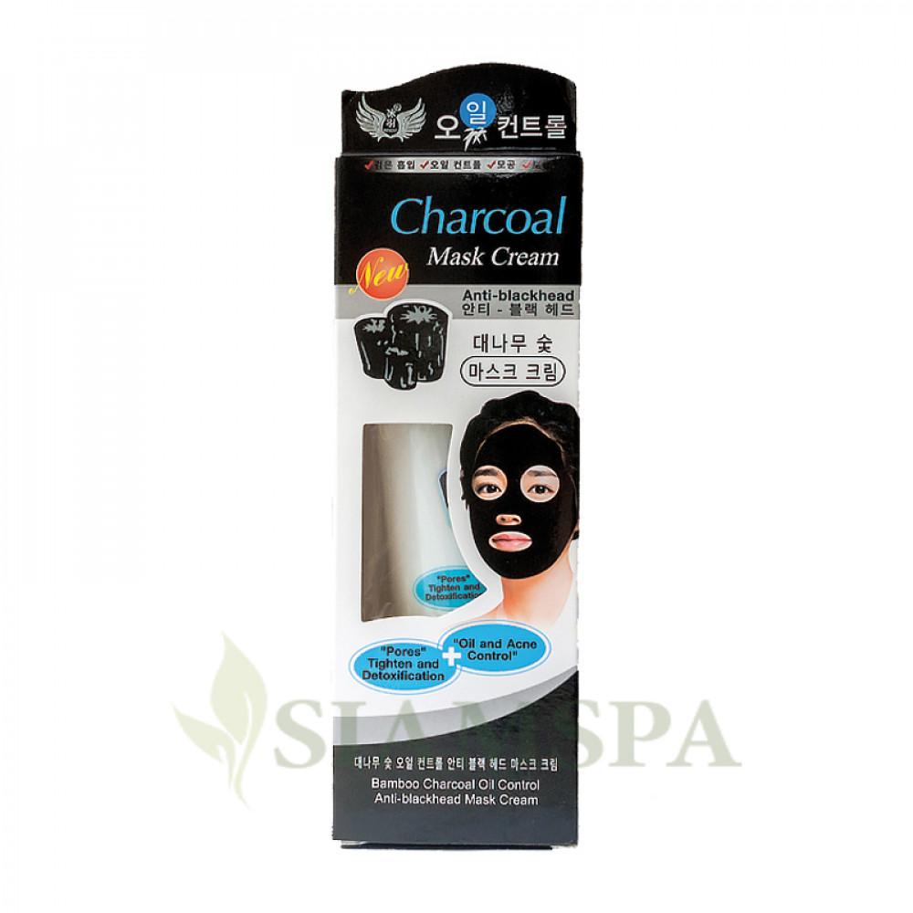 Очищающая черная маска для лица с бамбуковым углем, 130 мл